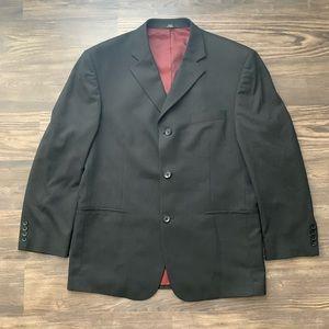 Haggar Black Pinstriped Blazer 44R